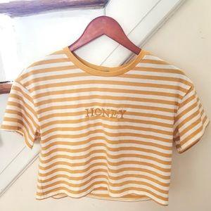 "Cropped ""Honey"" Shirt"